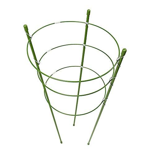 Struttura di supporto circolare ad anelli, per piante da giardino/piante rampicanti/verdure rampicanti, con 3 anelli, 3 pack, 60cm/24inch