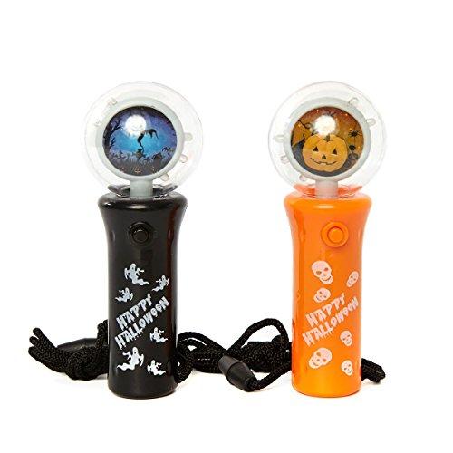 3 - 2er Set LED Handleuchte mit Funktion, schwarz und orange (Orange Led-halloween-lichter)