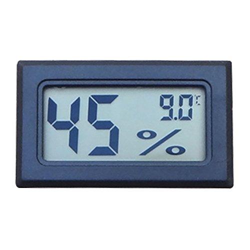 Incubator Thermometer Hygrometer LCD Anzeige Grad Celsius,Mini Wireless,Eingebettet,Schwarz,Beetest