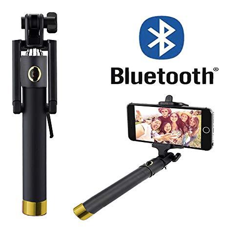 Selfie Stick per–Huawei Honor 9–con Bluetooth [senza batteria], Mini e senza tempo, per perfetta stesso Autoritratti–bstick Oro