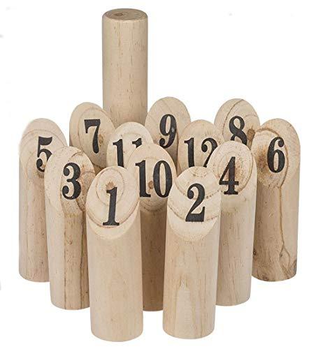 CBK-MS. Holzspielzeug Nummern Wikingerschach KUBB Strand Garten Wurfspiel Kegel Spiel
