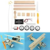 BouBou Electric Sliding Aircraft Diy Kit Student Small Invention Manual Material Science Model Toy