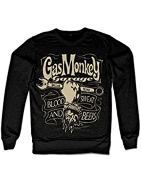 Officially Licensed Merchandise Gas Monkey Garage Wrench Label Sweatshirt (Black)