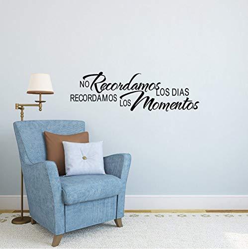 Spanisch Home Zitate Keine Recordamos Los Dias Recordamos Los Momentos Wandaufkleber Dekoration Wohnzimmer Text Aufkleber 97x30 cm