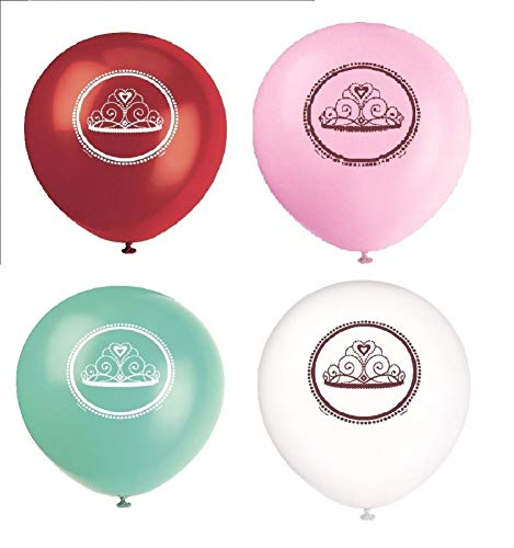 NANA'S PARTY Fairytle-Prinzessinnen-Geburtstagsparty-Reihe, Geschirr und Dekorationen (1C) 8 Balloons Printed 1 Side (12