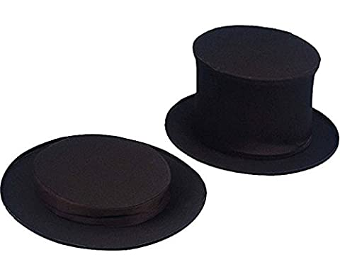 Hat - Collapsible Top Hat Child Black
