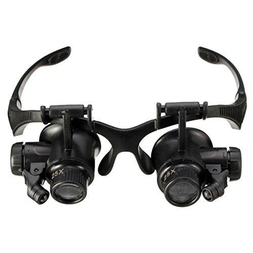 Tutoy 10X Quince X 20 25X Gafas Anteojos Led Lámpara Lupa Lupa...