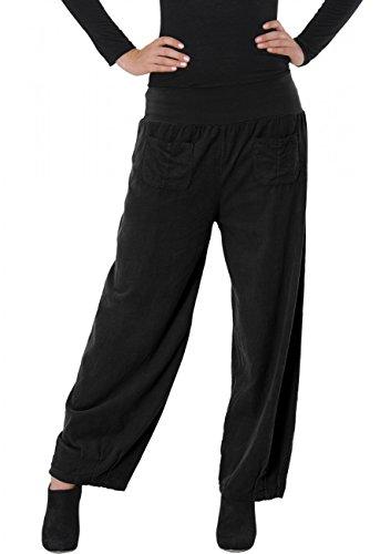 CASPAR KHS011 Damen Cordhose, Farbe:schwarz;Größe:36 S UK8 US6
