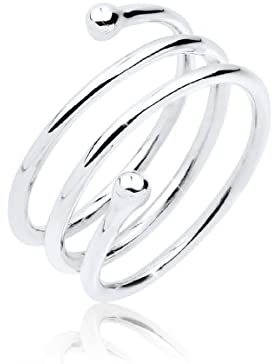 Elli Damen-Wickelring, Spirale, Wickelring 925 Sterling Silber 0611642713_54