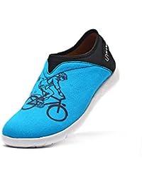 DYF Chaussures Nu Long Boot Baril Haut Fermeture éclair Taille épaissie Grande Couleur Solide,46,Gris