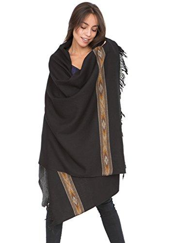 Châle 'Takhi' en laine mérinos