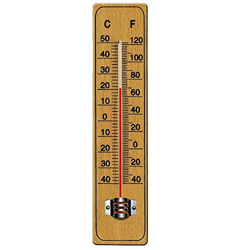 ermometer aus Holz 22cm (Holz Innen Thermometer)