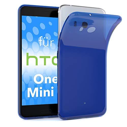 EAZY CASE HTC One Mini 2 Schutzhülle Silikon, Ultra dünn, Slimcover, Handyhülle, Silikonhülle, Backcover, Durchsichtig, Klar Blau