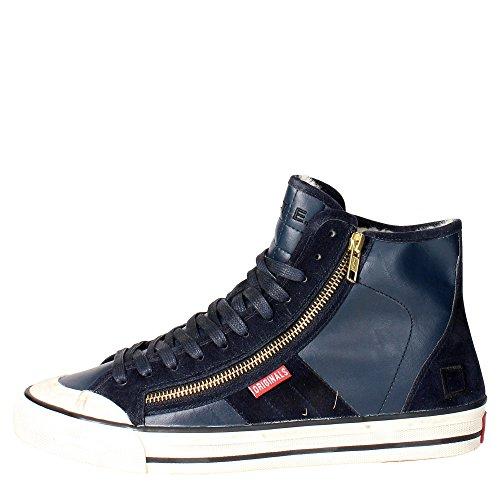 D.a.t.e. BLENDER Sneakers Homme Cuir Bleu - Bleu