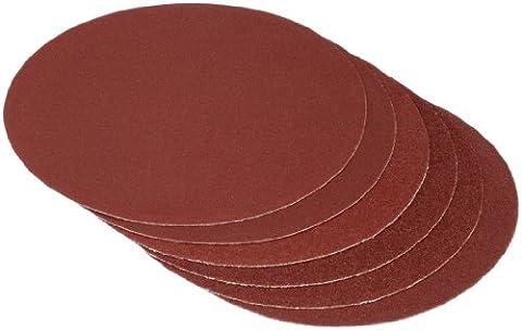 Cartrend 30132 Papier de verre 6 pièces, grain 60/80/120 x2 chacun, max. 175mm de diamètre