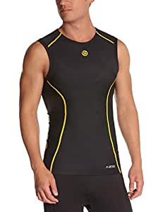 Skins A200 Sleeveless Men's Compression Top - Black/Yellow, S