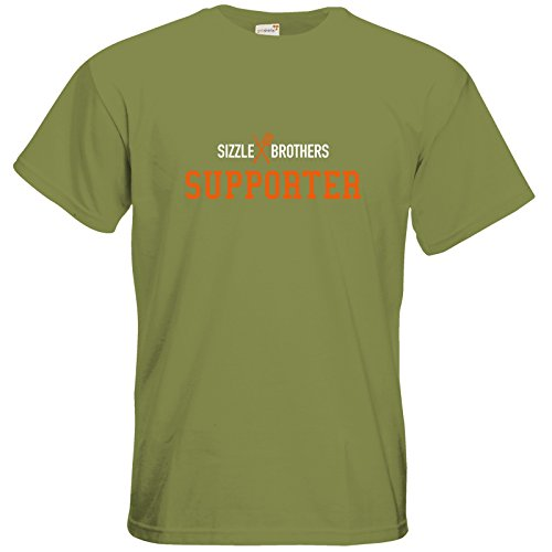 getshirts - SizzleBrothers Merchandise Shop - T-Shirt - SizzleBrothers - Grillen - Supporter groß Green Moss