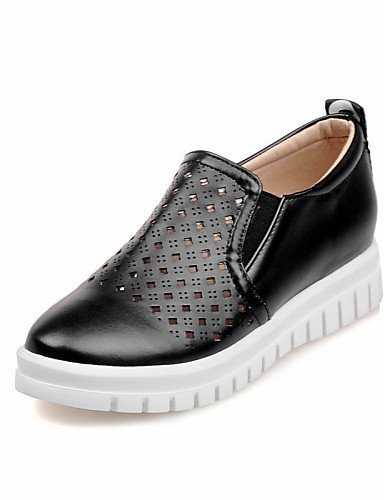 Shangyi Gyht Zapatos Mujer-mocasines-ocio / Formal / Casual-plataforma / Creepers-plateau-cuero Artificial-negro / Rosa / Blanco / Plata / Negro Dorado
