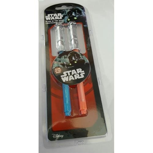 Coffret de Stylos Phosphorescents Sabres Laser Guerre des Étoiles Star Wars