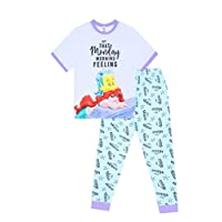 Disney Little Mermaid Monday Morning Feeling ! Long Ladies Pyjamas Pjs
