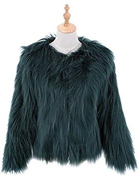 LLQ Abrigo para Mujer Invierno Piel Abrigo Mujer Caliente Chaqueta Piel Long Section Ropa Mujer Fur Coat Fur jacket...