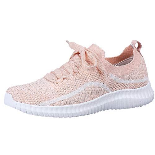 Saihui Sneakers Damen Sportschuhe Outdoors Laufschuhe Air Straßenlaufschuhe Sports Laufschuhe Turnschuhe Trainers Running Fitness Atmungsaktiv Bequem Schuhe (EU:37, Rosa)