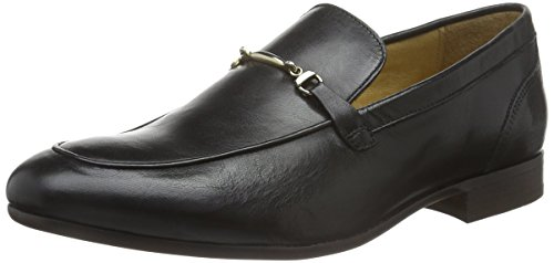 H.D. Hudson Mfg Co. Navarre Calf, Mocassins Homme Noir