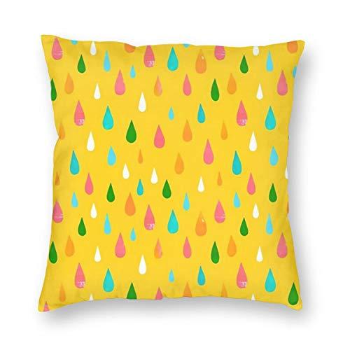 THsirtee Rainbow Rain Yellow Dekokissen Fall Platz Kissenbezug Kissenbezug Protektoren Für Sofa Bank Couch Autositz Bett 26