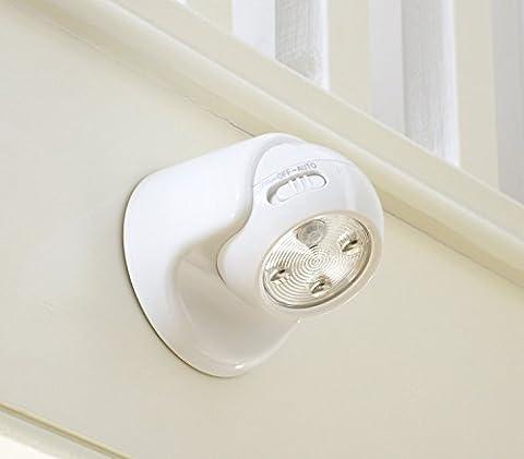Auraglow Lampe de sécurité à pile avec détecteur de mouvement