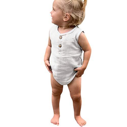 Julhold Sommer Säugling Baby Jungen & Mädchen Beiläufige Ärmellose Rüschen Feste Spielanzug Bodysuit Kleidung 3-24 Monate -