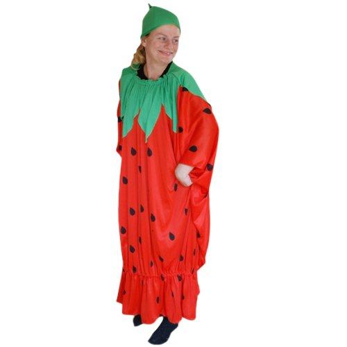 Erdbeer-Kostüm, To77 Gr. M-XL, Erdbeer-Kostüme Erdbeeren Früchte Obst Kostüme Erdbeere-Faschingskostüm, Fasching Karneval, Faschings-Kostüme, Geburtstags-Geschenk Erwachsene