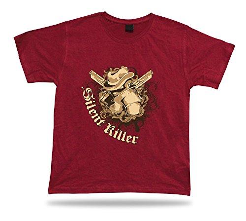 Silent Killer Wilder Westen Cowboy Klassischer Charme Kleidgeschenk T-Shirt T-Stück tricote