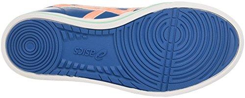 Onitsuka Tiger by ASICS Aaron Gs, Unisex-Kinder Sneakers Blau (Sea Port/Peach Melba)