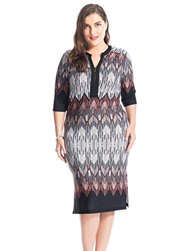 chicwe-mujeres-tallas-grandes-zip-cuello-en-v-frontera-impresin-vestido-20-negrobrick