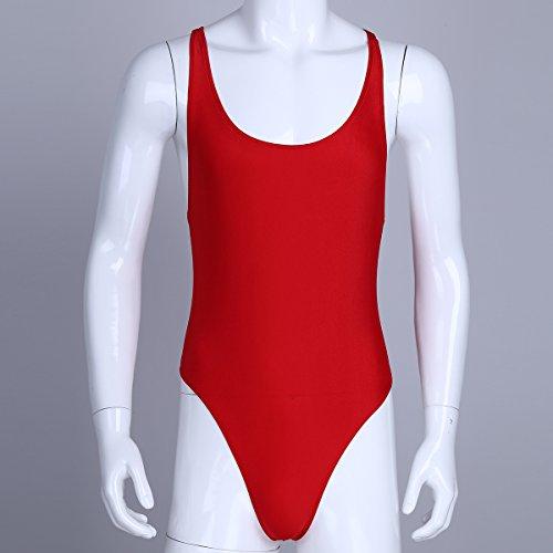 CHICTRY Herren Body Unterwäsche Sportbody Männer Unterhemd Sport Shirt Hemd Weste Tanktop M-XL Rot