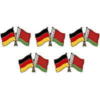 5er Pack Deutschland - Weißrussland Freundschaftspin Yantec Pin Flagge