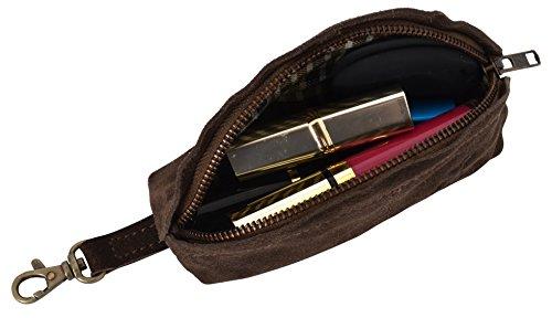 Gusti Leder studio ''Freddie'' Make-up Bag Borsa di pelle beauty case per Cosmetici Custodia per Trucchi Utensili chiavi donna marrone scuro 2A24-26-9