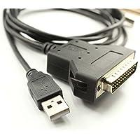 Silabs CP2102 - Cable adaptador de impresora USB RS232 a DB25 para escáner de impresora de código de barras