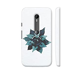 Colorpur Moto G Turbo Cover - Watercolor Green Blue Flower Case