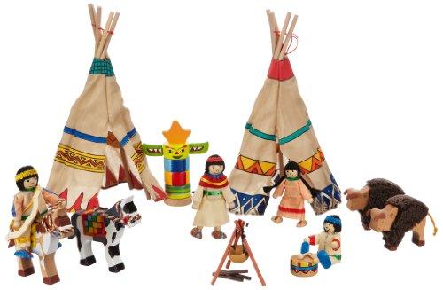 TOYS pure Indianerlager, 4 Biegepuppen (Hand Puppen Für Kleinkinder)