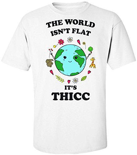 Finest Prints The World Isn t Flat It s Thicc Maglietta da Uomo Medium 8269568240d2