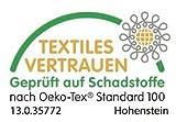 Vidabelle XXL Elektrische Kuschel-Wellness-Heizdecke, GS + Oeko-Tex geprüft, maschinenwaschbar, mit 6 Temperaturstufen + Überhitzungsschutz (dunkelbraun) - 5