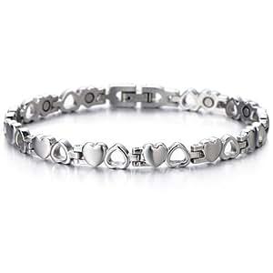 Bracelet Coeur - Aimanté Bracelet Femme en Acier Inoxydable - Aimants - Outil de Suppression de Lien Inclus