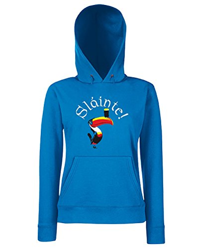 T-Shirtshock - Sweats a capuche Femme TIR0189 slainte toucan dark tshirt Bleu Royal