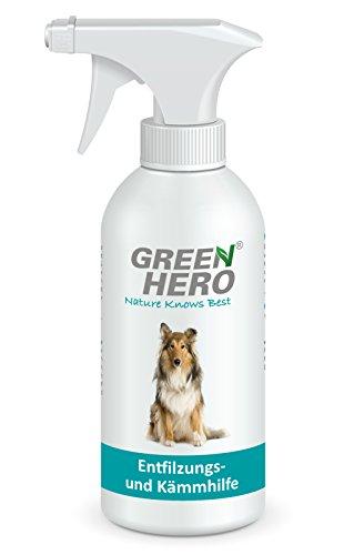 Green Hero Entfilzungs- und Kämmhilfe für Hunde, 500 ml, entwirrt das Fell und verleiht Glanz, verhindert Verhaken und Verknoten, Fellpflegespray