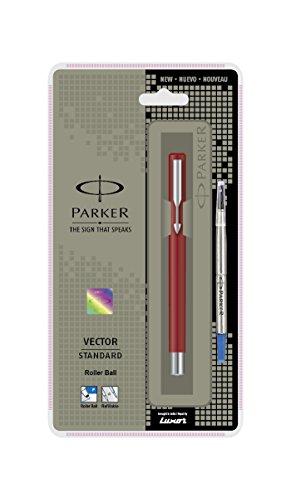 Parker Vector Standard Tintenroller {rot Körper} [blau Tinte] - Blaue Körper-massagegerät