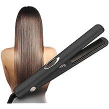 Plancha de pelo de cerámica de iones negativos hierro plano con temperatura ajustable alisadores de pelo