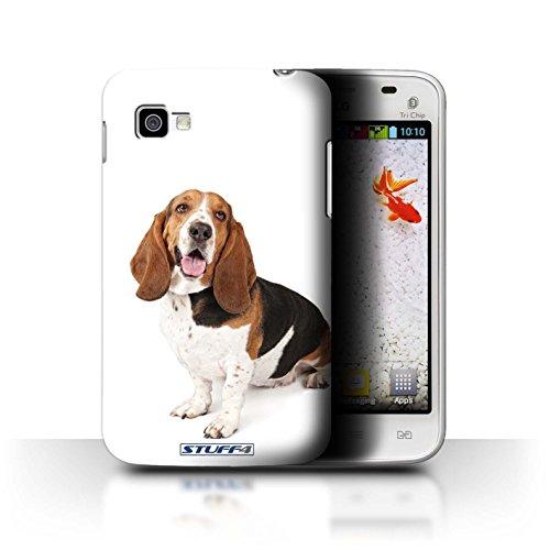 Custodia/Cover Rigide/Prottetiva STUFF4 stampata con il disegno Razze di cani per LG Optimus L4 II Tri/E740 - Basset hound