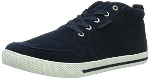 Jack & Jones Jj Juno Suede Casual High Org, Baskets mode homme Bleu (Dress Blues)