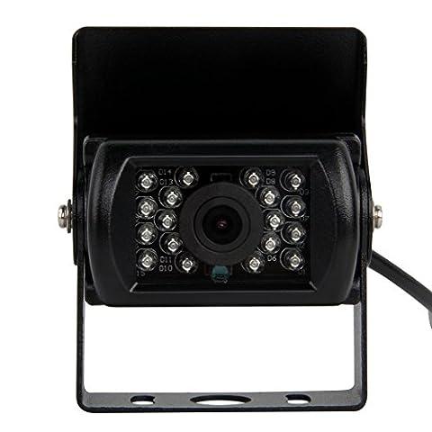 Pathson Caméra de Recul en Couleur Vue Arrière de Voiture avec large Vision 120°Nocturne (18 IR Lampes) Pour Voiture Automobile Camping Car Camion